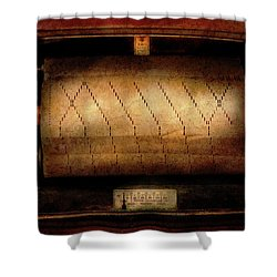Music - Piano - Binary Code  Shower Curtain by Mike Savad