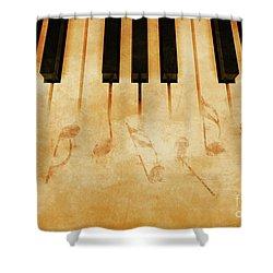 Music Shower Curtain by Giordano Aita