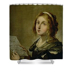 Music Shower Curtain by Salvator Rosa
