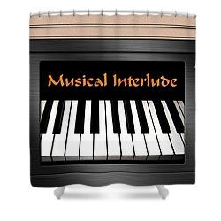Musical Interlude Shower Curtain by Will Borden