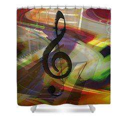 Musical Waves Shower Curtain by Linda Sannuti