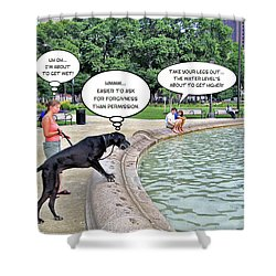 My Dog Tiny Shower Curtain by Brian Wallace