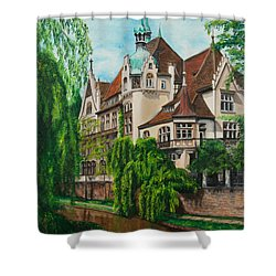 My Dream House Shower Curtain by Charlotte Blanchard