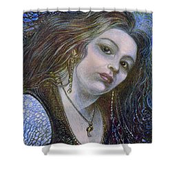 My Mermaid Christan Shower Curtain by Otto Rapp
