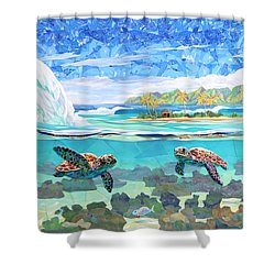 My Place Shower Curtain by Patrick Parker