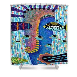 My Self 1 Shower Curtain by Opas Chotiphantawanon