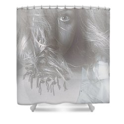 Mysterious Fine Art Fantasy Woman In Forest Mist Shower Curtain by Jorgo Photography - Wall Art Gallery