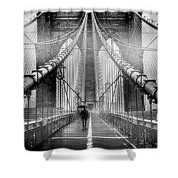 Mystery Manhattan Shower Curtain by Az Jackson