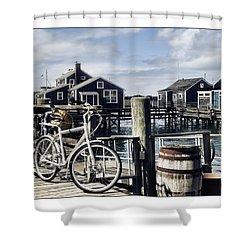 Nantucket Bikes 1 Shower Curtain by Tammy Wetzel