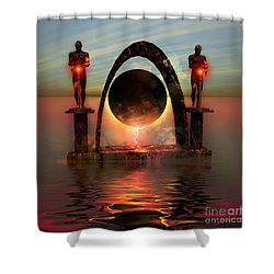 Napierian 12 Shower Curtain by Corey Ford