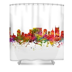 Nashville Cityscape 08 Shower Curtain by Aged Pixel