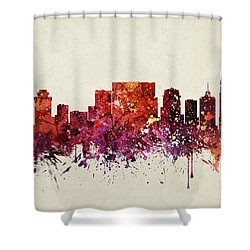 Nashville Cityscape 09 Shower Curtain by Aged Pixel