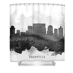 Nashville Cityscape 11 Shower Curtain by Aged Pixel