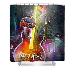 Nashville Nights 01 Shower Curtain by Miki De Goodaboom