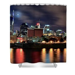 Nashville Skyline Shower Curtain by Frozen in Time Fine Art Photography