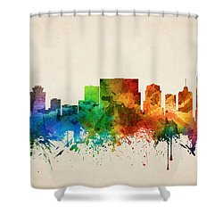 Nashville Tennessee Skyline 05 Shower Curtain by Aged Pixel