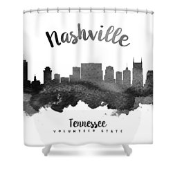 Nashville Tennessee Skyline 18 Shower Curtain by Aged Pixel