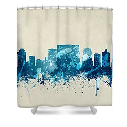 Nashville Tennessee Skyline 20 Shower Curtain by Aged Pixel