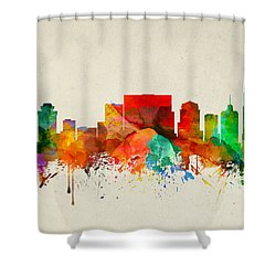 Nashville Tennessee Skyline 22 Shower Curtain by Aged Pixel