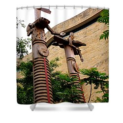 National Museum Of The American Indian 3 Shower Curtain by Randall Weidner