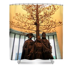 National Museum Of The American Indian 7 Shower Curtain by Randall Weidner
