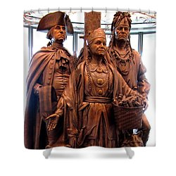 National Museum Of The American Indian 8 Shower Curtain by Randall Weidner