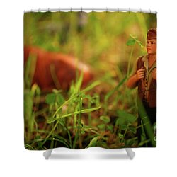 Nativity Scene Shower Curtain by Gaspar Avila