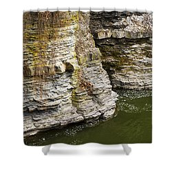 Nature Abstract Rock Cliffs Shower Curtain by Christina Rollo