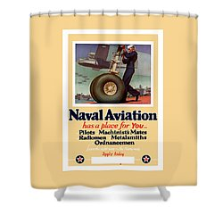 Naval Aviation Has A Place For You Shower Curtain by War Is Hell Store