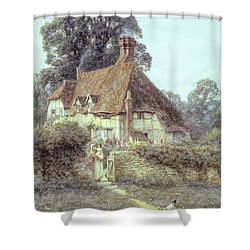 Near Witley Surrey Shower Curtain by Helen Allingham