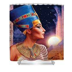 Nefertiti Variant 5 Shower Curtain by Andrew Farley