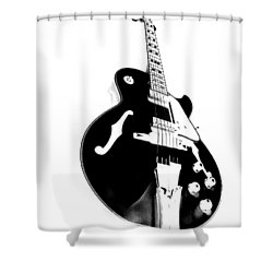 Negative Space Shower Curtain by Donna Blackhall