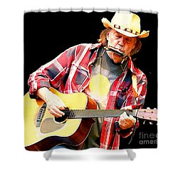 Neil Young Shower Curtain by John Malone