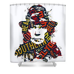 Neil Young Southern Man Shower Curtain by Marvin Blaine