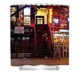 Neon Lights - New York City At Night Shower Curtain by Vivienne Gucwa