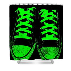 Neon Nights Shower Curtain by Ed Smith