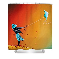 Never Let Go Shower Curtain by Cindy Thornton