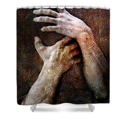 Never Let Go Shower Curtain by Jacky Gerritsen