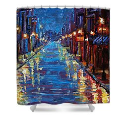 New Orleans Bourbon Street Shower Curtain by Debra Hurd