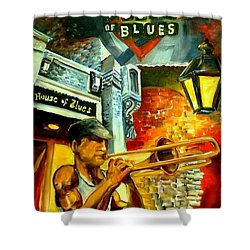 New Orleans' House Of Blues Shower Curtain by Diane Millsap