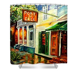 New Orleans Port Of Call Shower Curtain by Diane Millsap