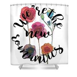 New Romantics Shower Curtain by Patricia Abreu