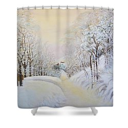 New Snow In Hunting Hills Shower Curtain by Douglas Ann Slusher
