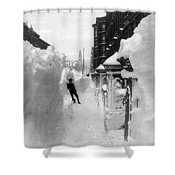 New York: Blizzard Of 1888 Shower Curtain by Granger