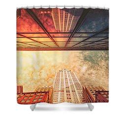 New York City - Chrysler Building Shower Curtain by Vivienne Gucwa