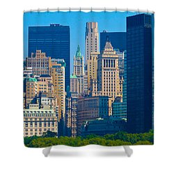 New York City Shower Curtain by Douglas J Fisher