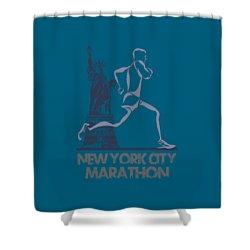 New York City Marathon3 Shower Curtain by Joe Hamilton