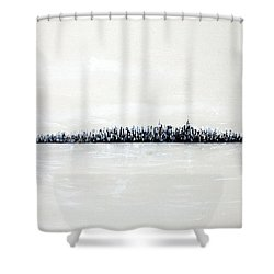 New York City Skyline 48 Shower Curtain by Jack Diamond
