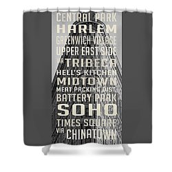 New York City Subway Stops Flat Iron Building Shower Curtain by Edward Fielding