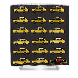 New York City Taxi Shower Curtain by Art Spectrum